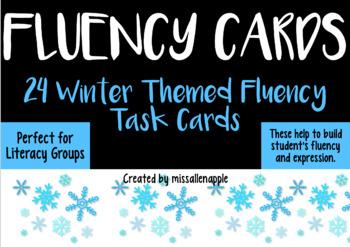 Winter Holiday Theme Fluency Task Cards - oral fluency/lit