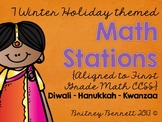 Winter Holiday Themed Math Stations