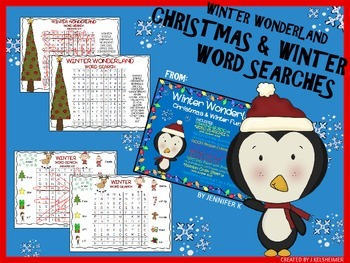 Winter Holiday Word Searches (K-2)