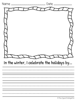 Winter Holiday Writing Prompt