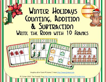 Winter Holidays Counting, Addition & Subtraction with Ten