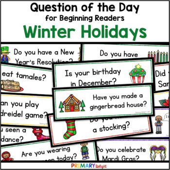 Winter Holidays: Question of the Day (Sign-In Sheets)