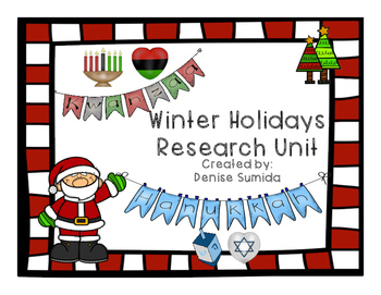 Winter Holidays Research Unit: Christmas, Kwanzaa, and Hanukkah