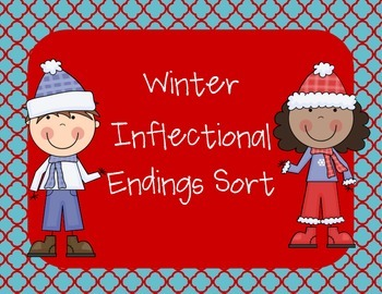 Winter Inflectional Endings Sort