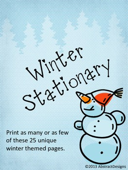 Winter Inspired Stationary