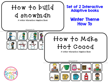 Winter Interactive Adapted Book - set of 2 How To (Snowman