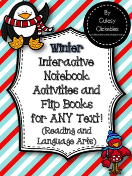 Winter Interactive Notebook Activities and Flip Books for