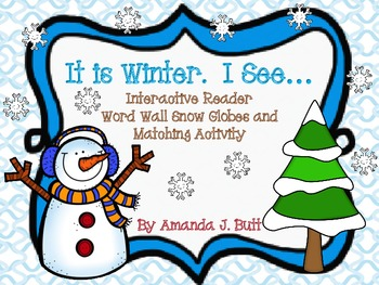 Winter Interactive Reader - Literacy:  Kindergarten; Autis