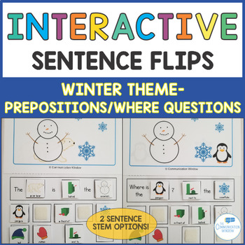 Winter Interactive Sentence Flips - Prepositions and Where