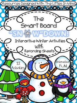 Winter Interactive Smart Board Math & Literacy Games With
