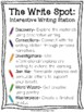 Winter - Interactive Writing Station: The Write Spot (Grades 3-5)