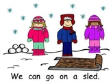 Winter Is Fun sight word student copy and teacher book
