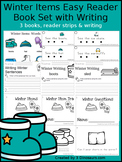 Winter Items Easy Reader Book Set with Writing