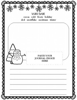 Winter Journal Prompt