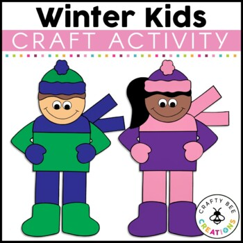 Winter Kids Cut and Paste