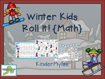 Winter Kids Roll It {Math}