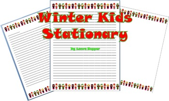 Stationary with Winter Kids Border