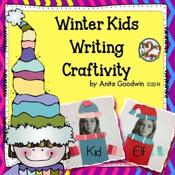 Winter Kids and Elves Writing Craftivity