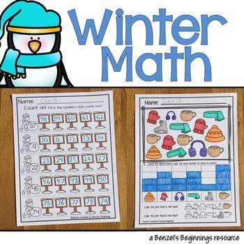 Winter Kindergarten Math