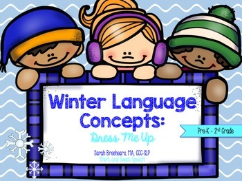 Winter Language Concepts: Clothing, Pronouns, and Followin