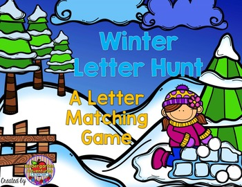 Winter Letter Hunt-A Letter Matching Activity