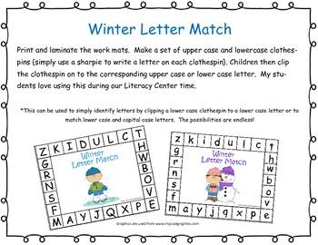 Winter Letter Match