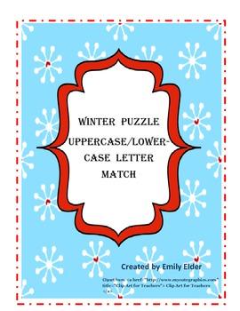 Christmas Letter Match Puzzle
