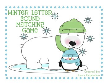 Winter Letter Sound Matching Game