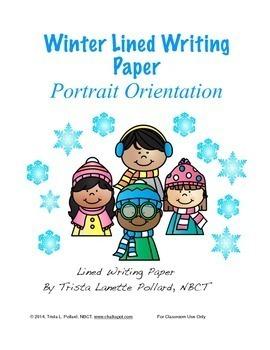 Winter Writing Paper: Regular Lined (Portrait Orientation)