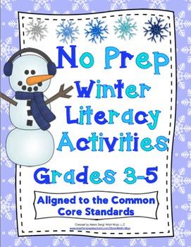 Winter ELA Activities (No Prep) Grades 3 - 5