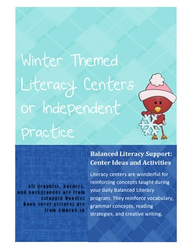 Winter Literacy Center Activities