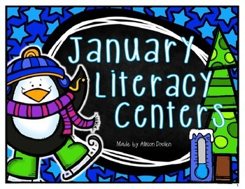 Winter Literacy Centers For January