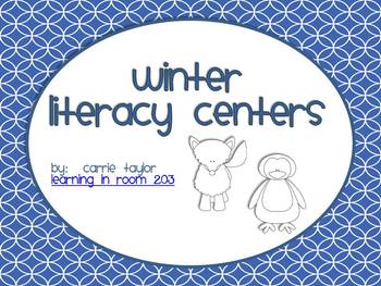 Winter Literacy Centers - Easy to Print!