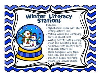 10 Winter Literacy Stations