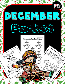 December/Christmas Math and Literacy Packet-Christmas crafts