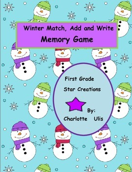 Winter Match Add and Write Memory Game