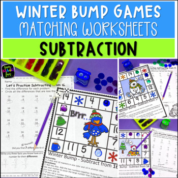 Winter Math Subtraction Games and Printables