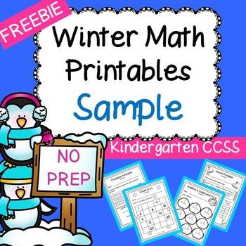 Kindergarten Winter Math FREEBIE