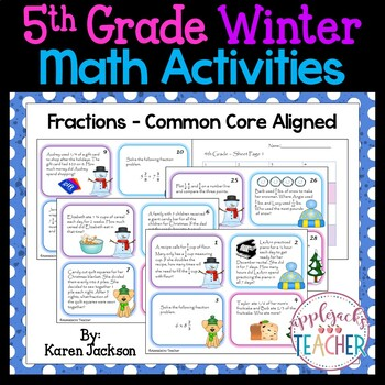 Winter Math Activities - 5th Grade - Common Core Aligned