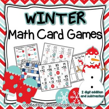 Winter Math Card Games