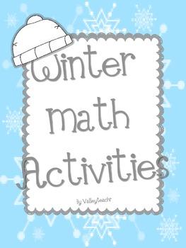 Winter Math Center Activities