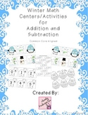 Winter Math Centers/Activities for Addition and Subtraction