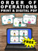 FREE Winter Math Order of Operations Activities & Games 5t