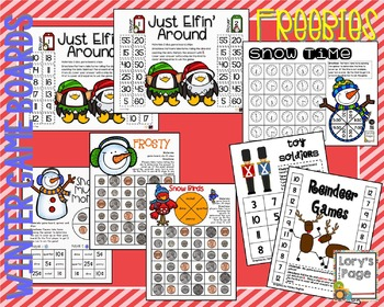 Game Boards Winter Math