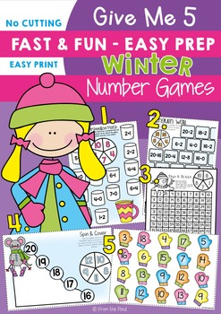 Winter Math Centers / Games - Easy Prep and Print