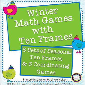 Winter Math Games with Ten Frames