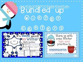 Winter Math & Literacy Centers Bundled (Common Core Aligned)