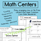 Winter Math, Literacy and Science Centers for Kindergarten