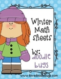 Winter Math Practice Review Sheets