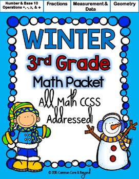 Winter Printables (3rd Grade)